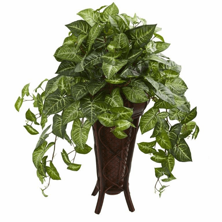 "34"" Nepthytis Artificial Plant in Stand Planter"