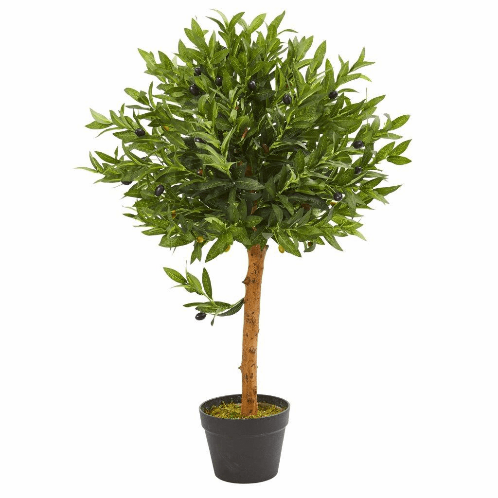 34� Olive Topiary Artificial Tree UV Resistant (Indoor/Outdoor)