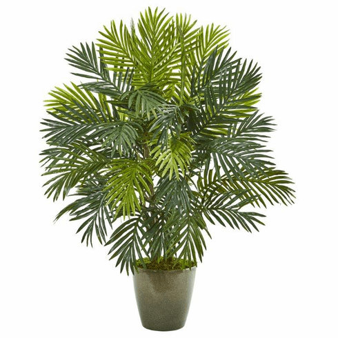 "35"" Areca Palm Artificial Plant in Green Planter"