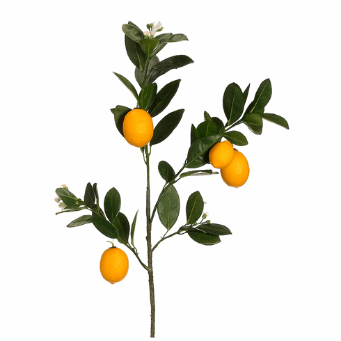 "35"" Artificial Lemon Branch - Set of 6"
