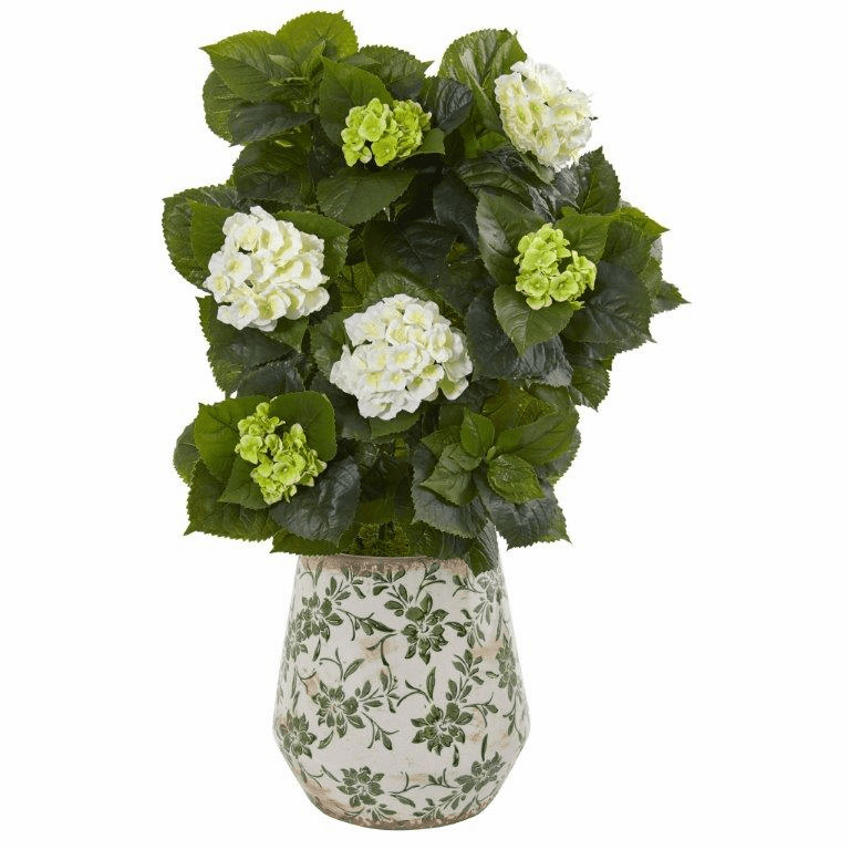 35� Hydrangea Artificial Plant in Decorative Vase