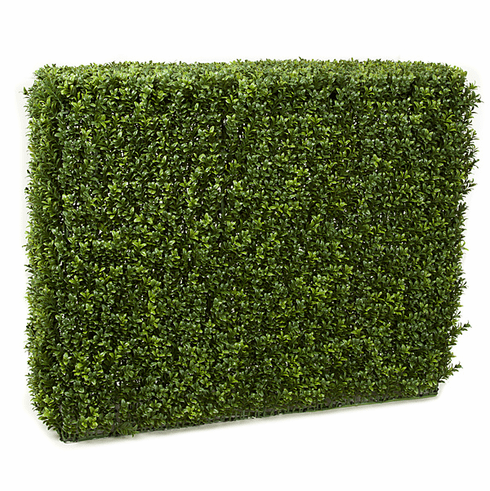 "35"" Poly-blend Artificial Boxwood Hedge Outdoor UV Infused"