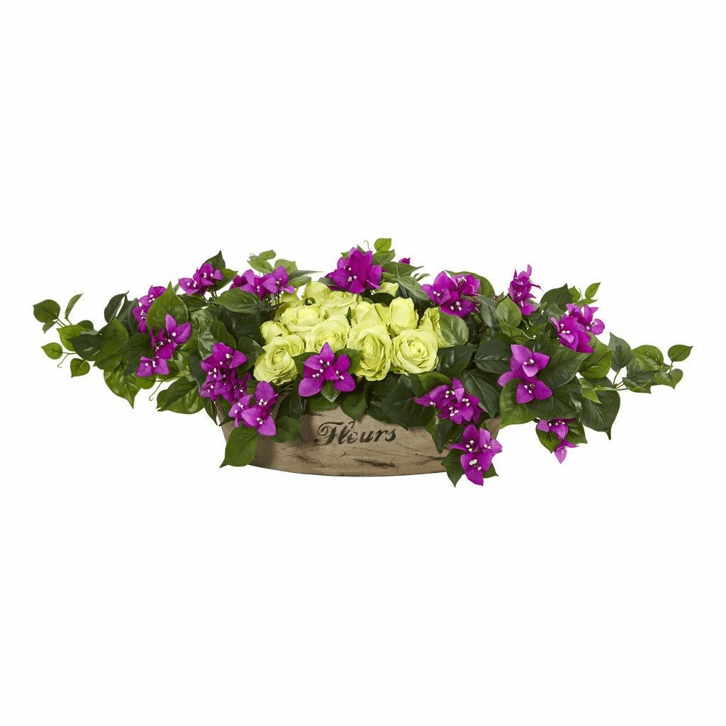 12� Rose & Bougainvillea Artificial Arrangement