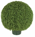 "36"" Artificial Limited UV Protection Outdoor Boxwood Topiary Ball"