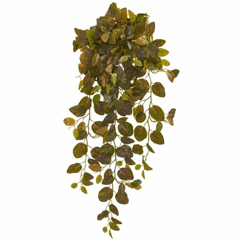 """36"""" Fittonia Hanging Bush Artificial Plant (Set of 2) (Real Touch)"""