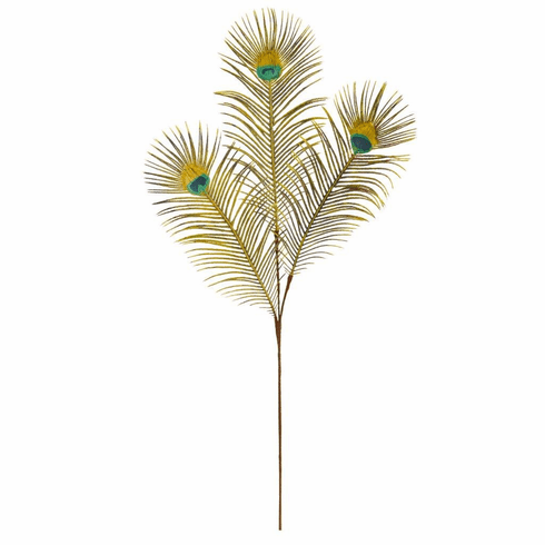 "36"" Peacock Feather Artificial Spray (Set of 8)"