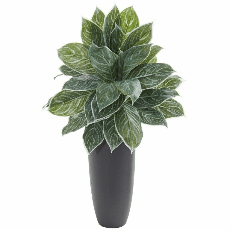 37� Aglonema Artificial Plant in Planter (Real Touch)