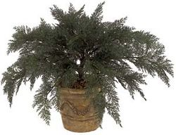 "37"" Artificial Outdoor Spreading Juniper Plant (pot not included) - UV Infused  Set of 4"