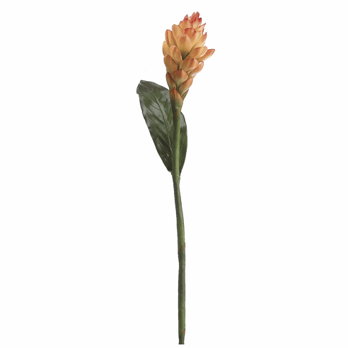 "37"" Artificial Torch Ginger Flower Spray Stem (shown in flame/orange) - Set of 12"