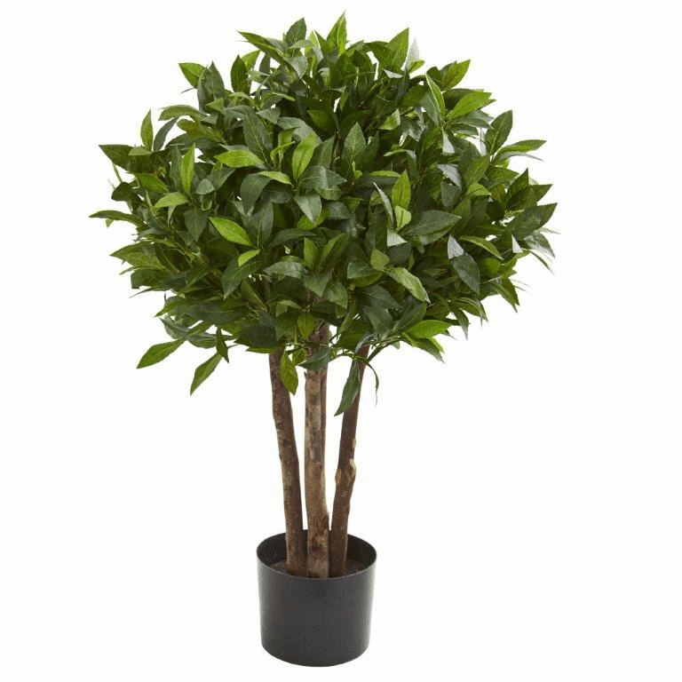 37� Bay Leaf Topiary Artificial Tree