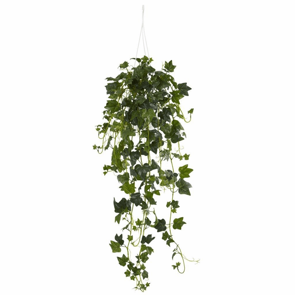 "37"" English Ivy Hanging Basket Artificial Plant"