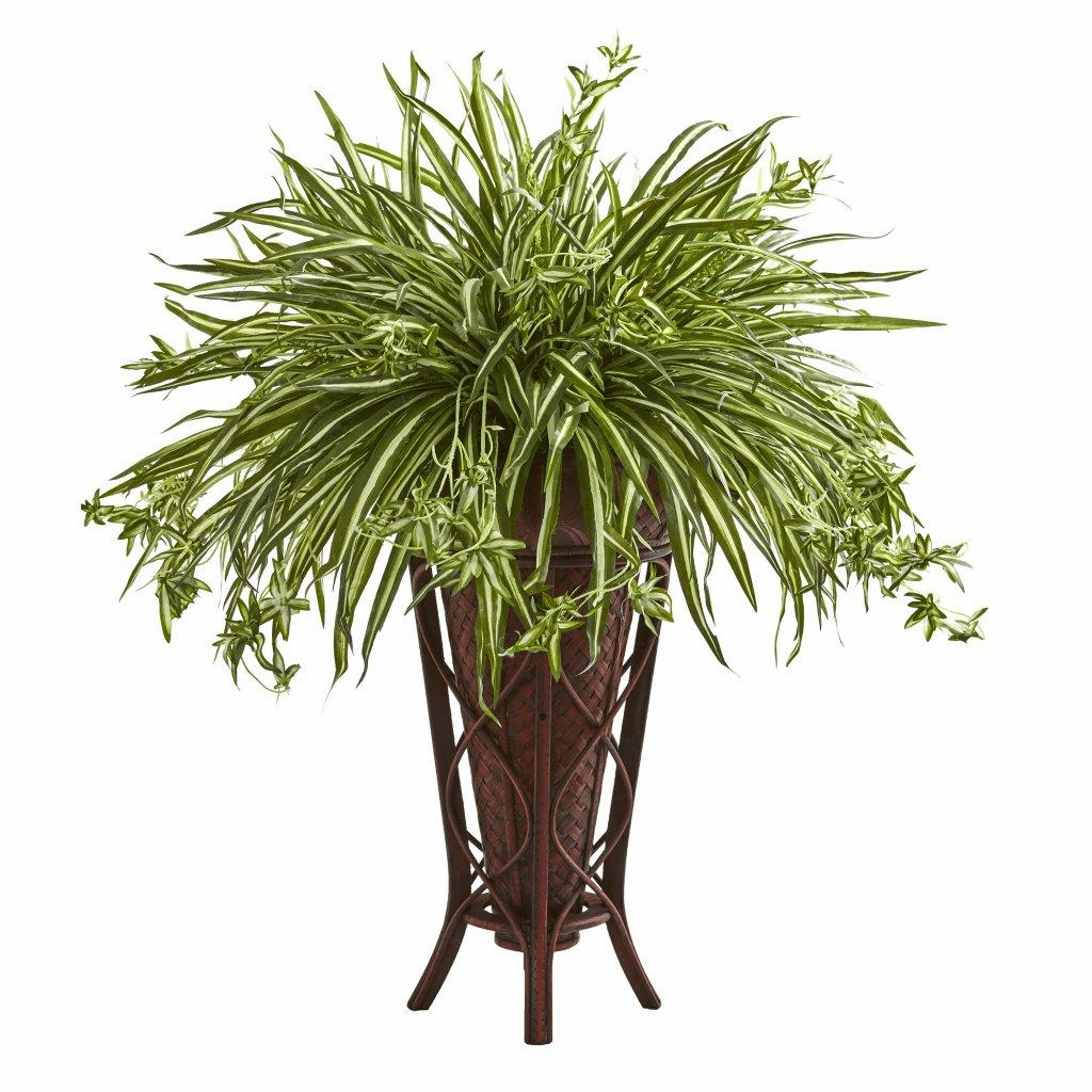 37� Spider Artificial Plant in Decorative Stand Planter
