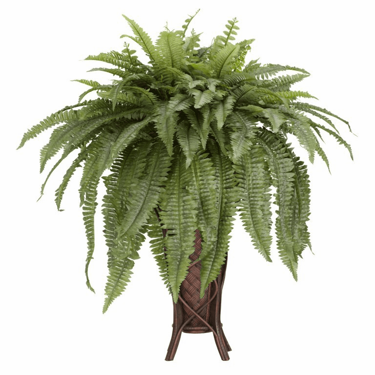 "38"" Artificial Boston Fern with Stand Silk Plant"