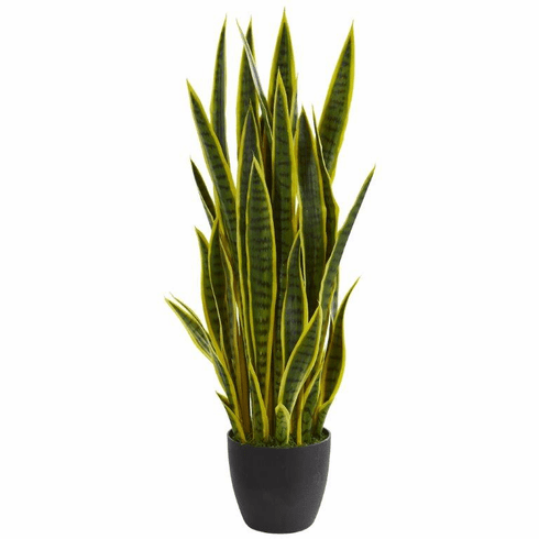 "38"" Sansevieria Artificial Plant - Yellow"