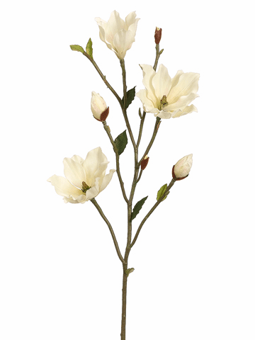 "39"" Artificial Magnolia Flower Tree Branch - Set of 6"