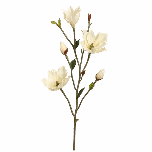 39 Artificial Magnolia Flower Tree Branch Set Of 6