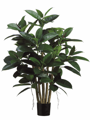 "39"" Artificial Rubber Leaf Plant - Potted - Set of 2"