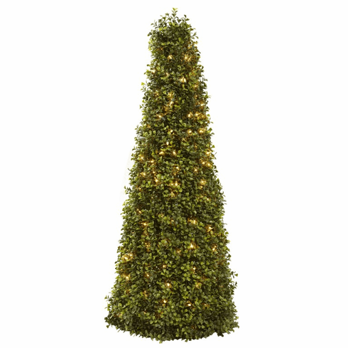 "39"" Boxwood Cone with Lights"