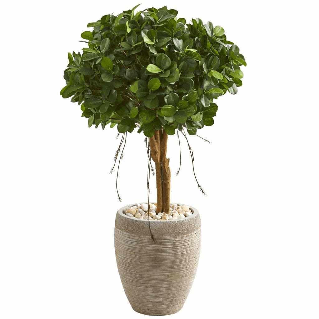 39� Ficus Artificial Tree in Sand Colored Planter