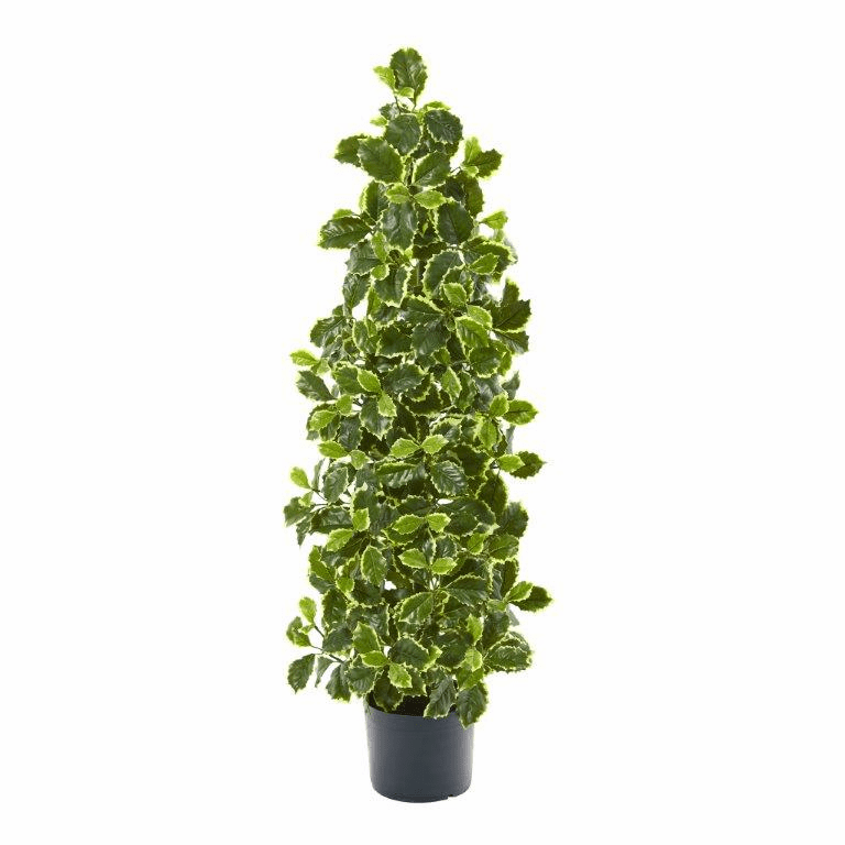39� Variegated Holly Leaf Artificial Tree (Real Touch) -