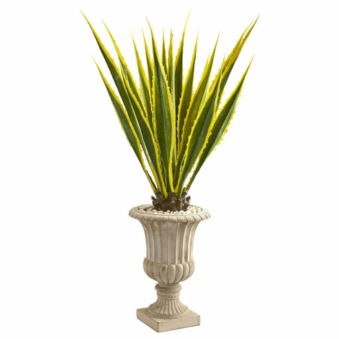 4.5' Agave Artificial Plant in Urn