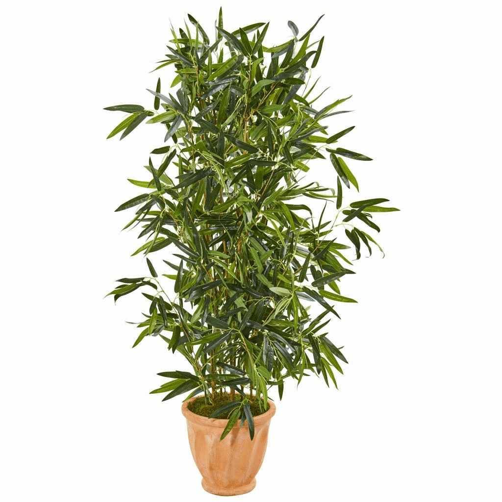 4.5� Bamboo Artificial Tree in Terra Cotta Planter (Real Touch) UV Resistant (Indoor/Outdoor)