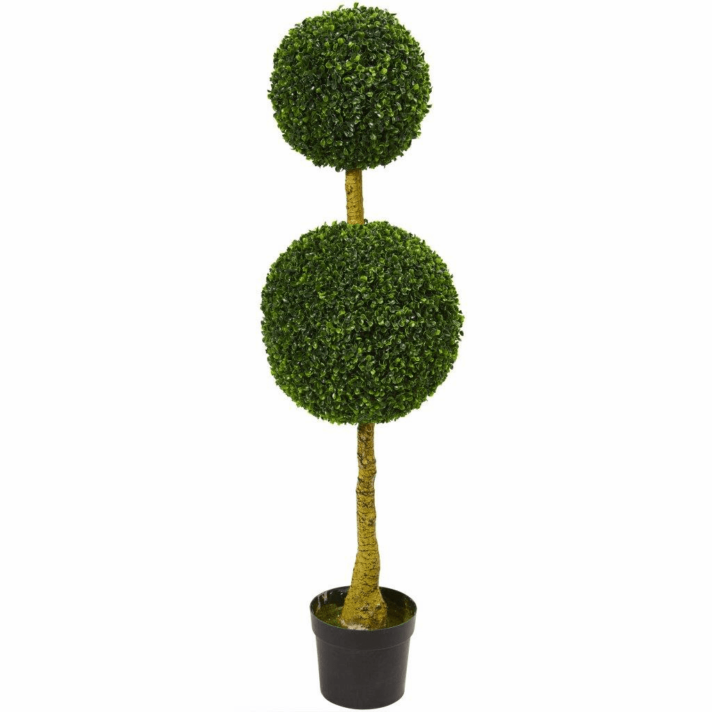 4.5� Double Topiary Boxwood Artificial Tree UV Resistant (Indoor/Outdoor)