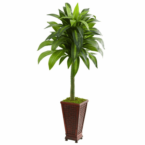 4.5' Dracaena Artificial Plant in Decorative Planter