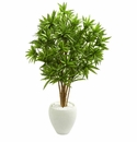 4.5� Dracaena Artificial Tree in White Planter - N/A