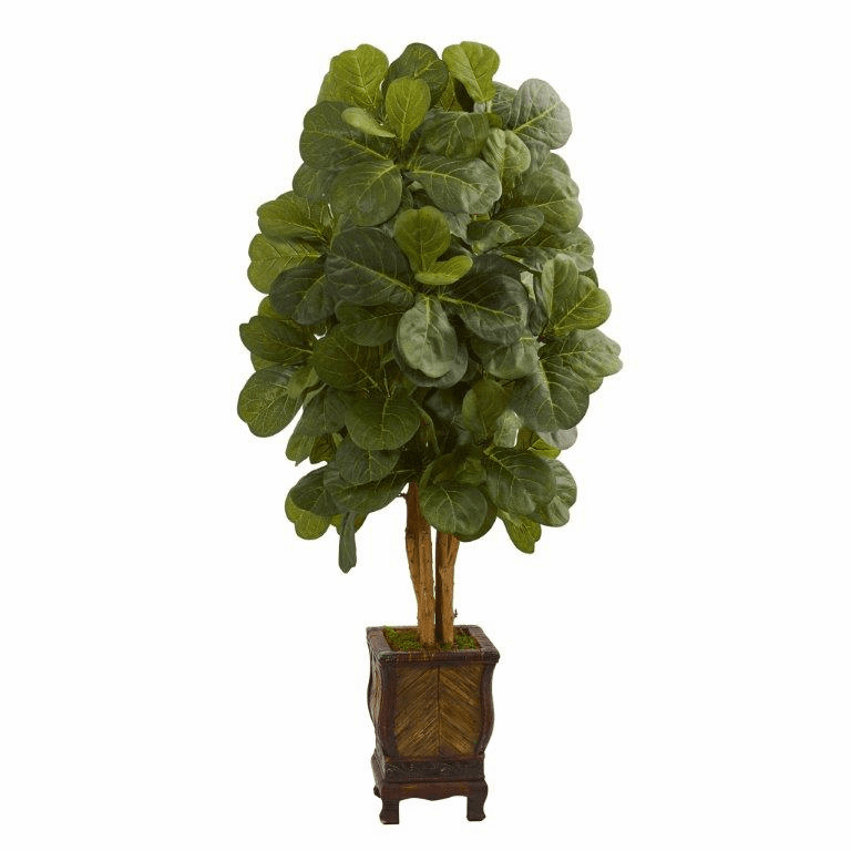 4.5� Fiddle Leaf Artificial Tree in Decorative Planter