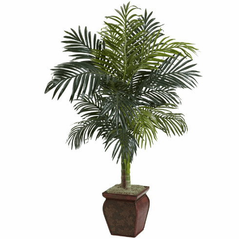 4.5' Golden Cane Palm w/Decorative Container