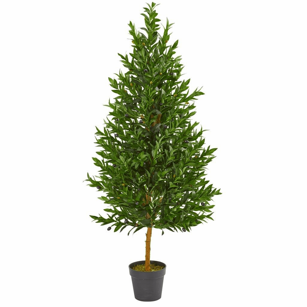 4.5� Olive Cone Topiary Artificial Tree UV Resistant (Indoor/Outdoor)