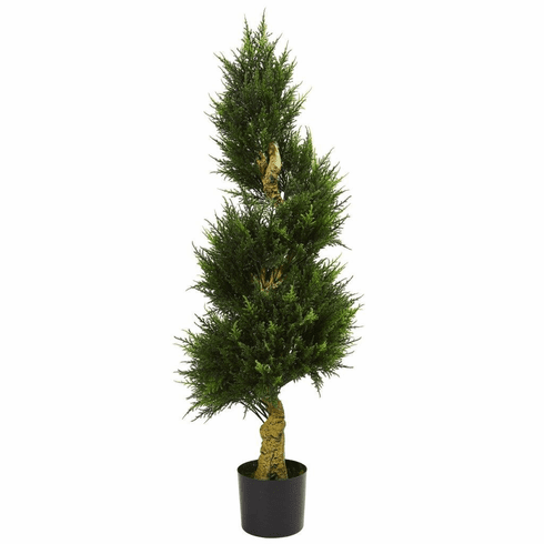 4.5' Spiral Cypress Artificial Tree UV Resistant (Indoor/Outdoor)