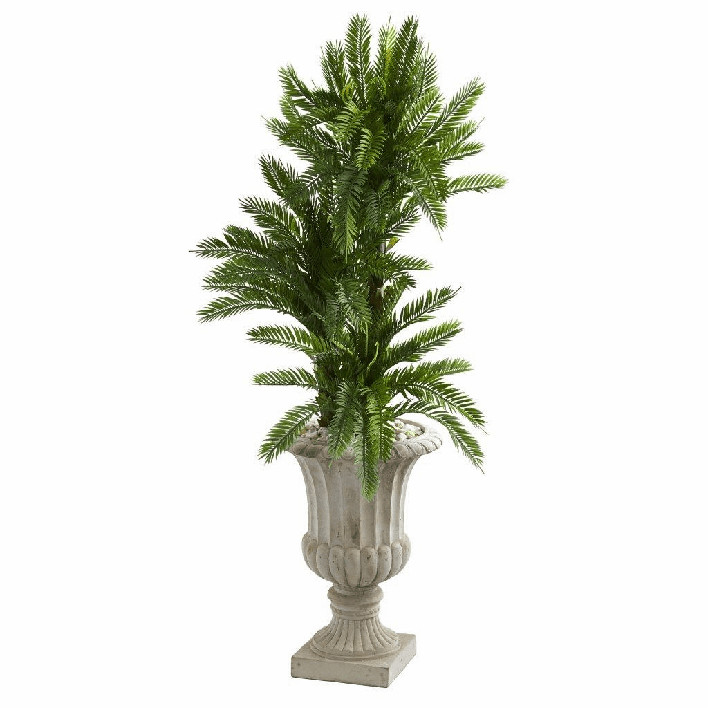 4.5� Triple Cycas Artificial Plant in Urn