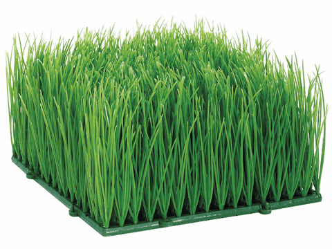 "4"" Artificial Wheat Grass Mat - Set of 4"