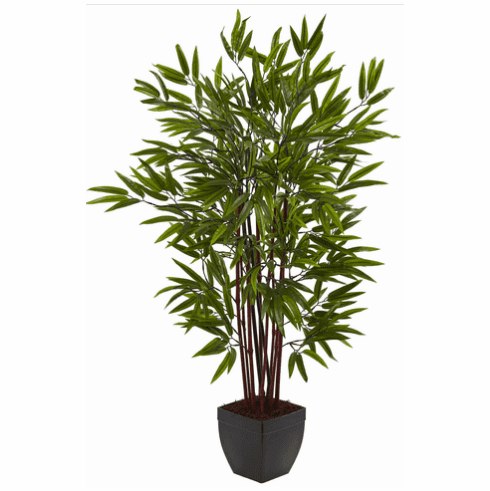 4' Bamboo Silk Tree w/Planter