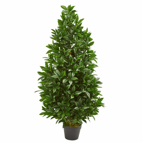 4' Bay Leaf Artificial Topiary Tree UV Resistant (Indoor/Outdoor)