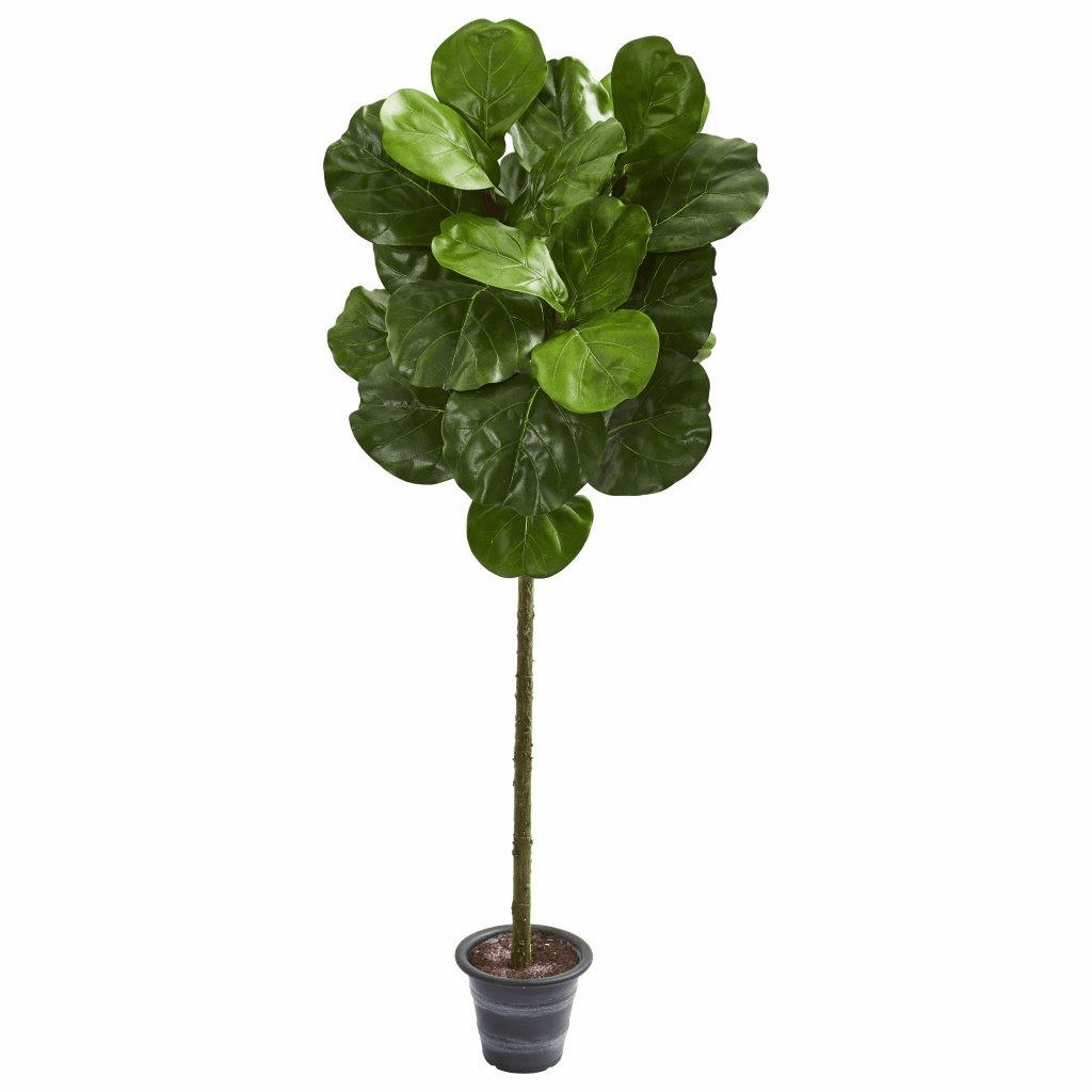 4� Fiddle Leaf Artificial Tree With Decorative Planter