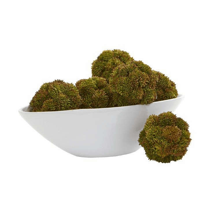4� Sedum Artificial Succulent Artificial Spheres (Set of 6)
