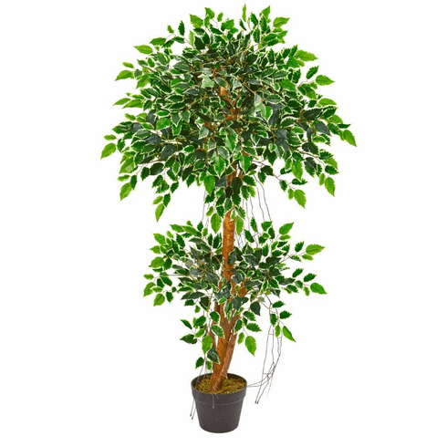 4' Variegated Ficus Artificial Tree