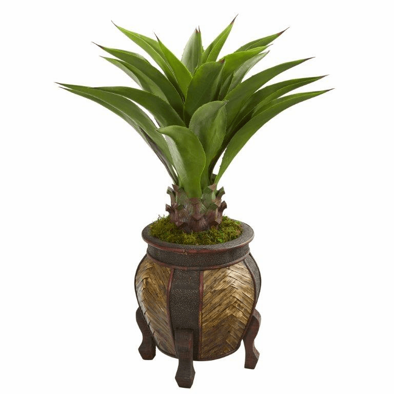 40� Agave Artificial Plant in Decorative Planter