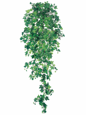 """40"""" Artificial Curly Ivy Hanging Bush with 739 Leaves - Set of 4"""