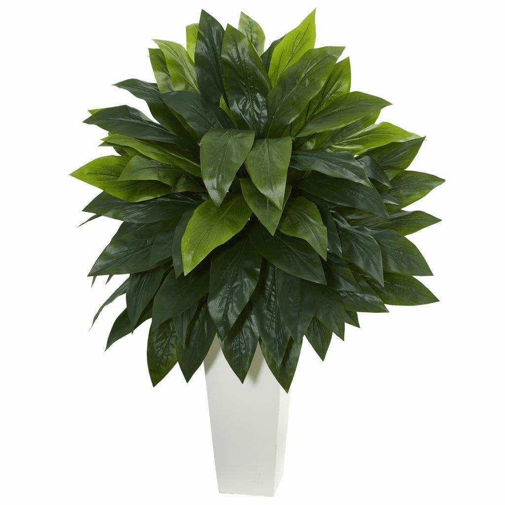 """40"""" Cordyline Artificial Plant in White Tower Planter"""