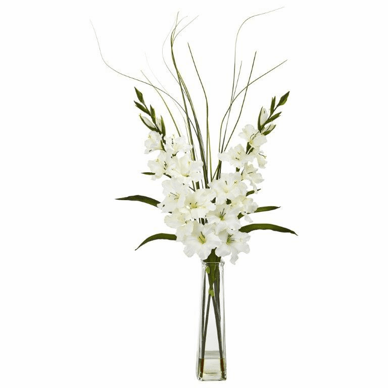 "40"" Gladiola Artificial Arrangement - White"