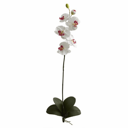 """40"""" Large Orchid Phalaenopsis Artificial Flower (Set of 3) - White"""