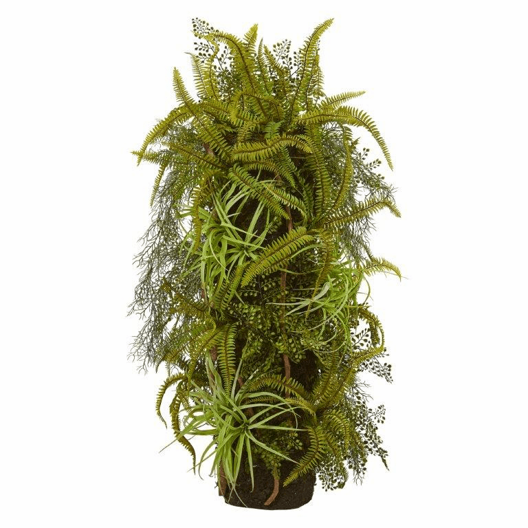 40� Mixed Forest Foliage Artificial Plant on Trunk