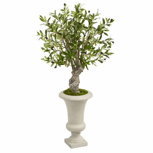 "40"" Olive Artificial Tree in Urn Floor Plant"
