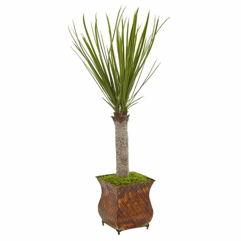 "40"" Yucca Artificial Tree in Metal Planter"