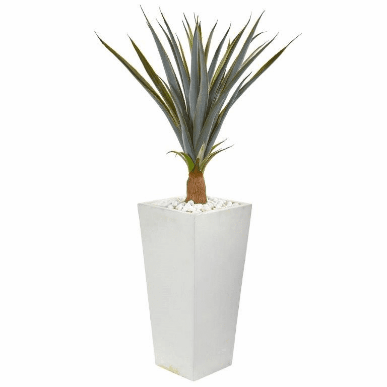 41� Agave Succulent Artificial Plant in White Tower Planter