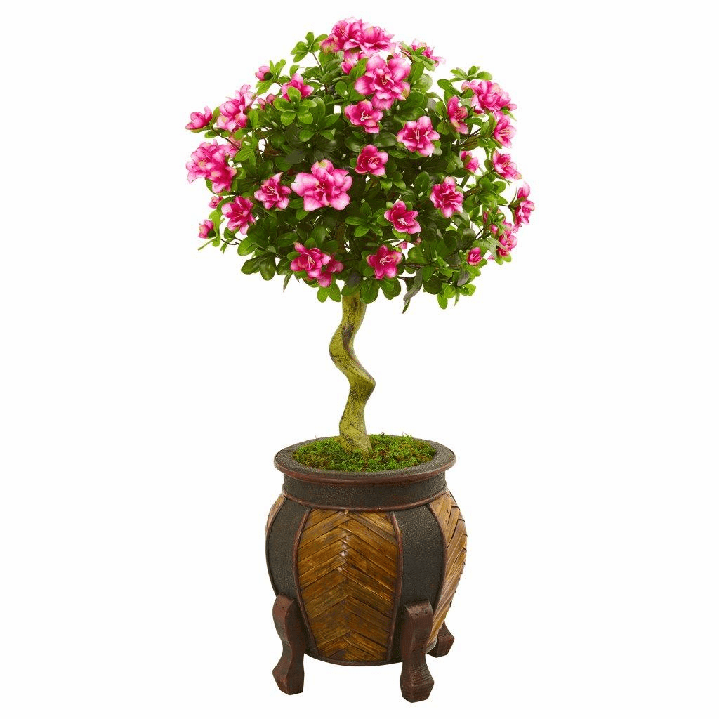 42� Azalea Artificial Topiary Tree in Decorative Planter